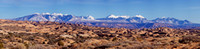 Petrified Dunes and the LaSalle Mountains-Arches National Park